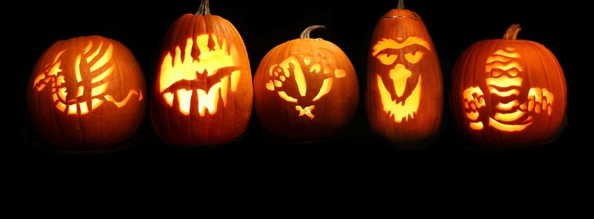 Citrouilles d 39 halloween photos de couverture facebook - Image de citrouille d halloween ...